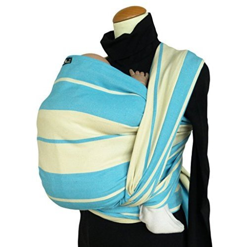 Product Image of the DIDYMOS Woven Wrap Baby Carrier Standard Stripes Turquoise (Organic Cotton),...