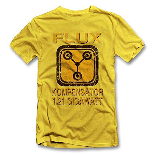 Flux Kompensator Zurueck In Die Zukunft T-Shirt gelb-Yellow XL