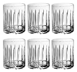 Tumbler Glass - Double Old Fashioned - Set of 6 Glasses - Hand Cut Crystal - Designed DOF tumblers - For Whiskey - Bourbon - Water - Beverage - Drinking Glasses - 12 oz. - Made in Europe - By Barski