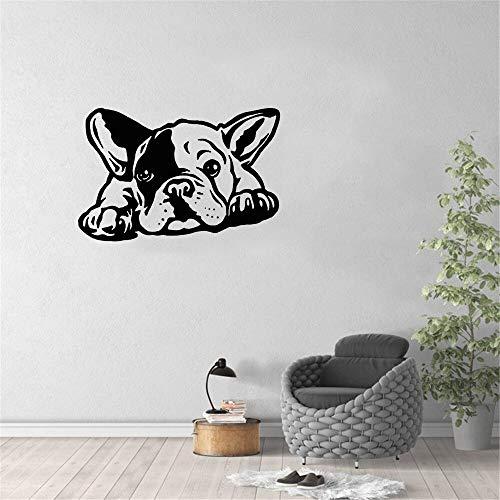 Kjlfow Etiqueta de la Pared del Perro Vinilo decoración del hogar Mural calcomanía Sala de Estar Perro Novedad 85x57 cm