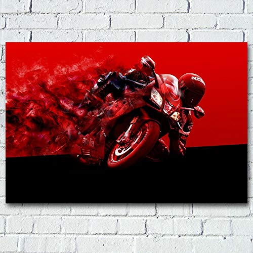 1000pcs_Adult Puzzle_Super Moto Rojo Negro_Rompecabezas de Papel, Rompecabezas ensamblados, Rompecabezas para Adultos, Juguetes educativos para niños_50x75cm