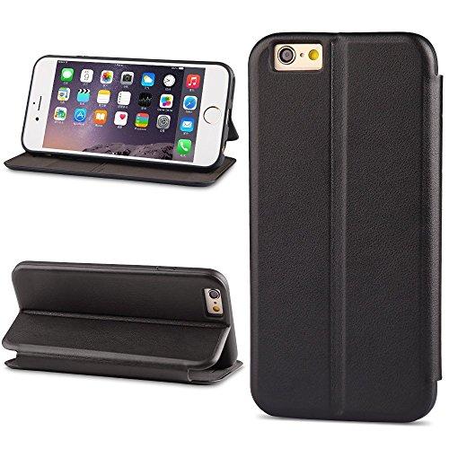 XUNDD Funda iPhone SE/5S/5 Cartera Carcasa Piel Plegable Cubierta del Tirón Soporte Plegable/Ranuras para Tarjetas/Cierre Magnético para iPhone SE/5S/5,Negro