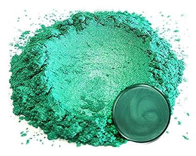 "Mica Powder Pigment ""Arashiyama Green"" (50g) Multipurpose DIY Arts and Crafts Additive | Woodworking, Natural Bath Bombs, Resin, Paint, Epoxy, Soap, Nail Polish, Lip Balm"