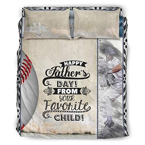 Knowikonwn Juego de ropa de cama de softball, 4 piezas, funda de edredón y fundas de almohada, suave y fácil de cuidar, 228 x 264 cm, color blanco