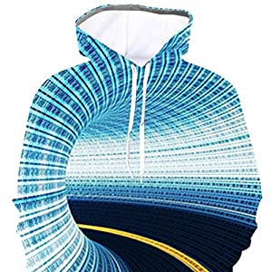 Aoogo-Herren-3D-Whirlpool-Kurzarm-T-Shirt-Aufdruck-Rundhals-Tee-Hemd-mit-kurzen-rmeln-Lssige-T-Shirt
