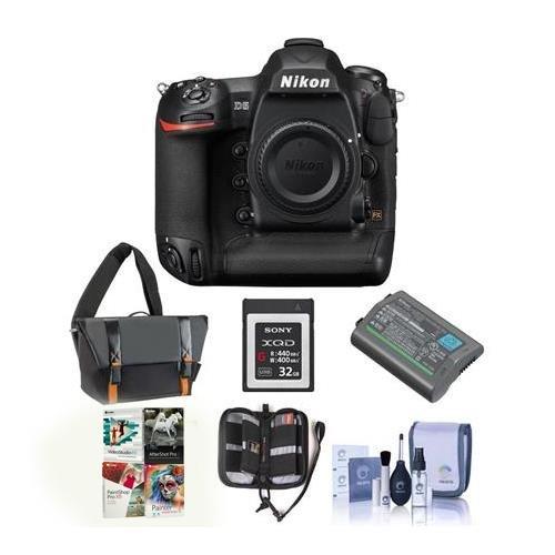 Nikon D5 FX-Format DSLR Camera Body - Bundle with Camera Bag, EN-EL18A Battery, 32GB Memory Card, Cleaning Kit, Memory Wallet, PC Softawre Package