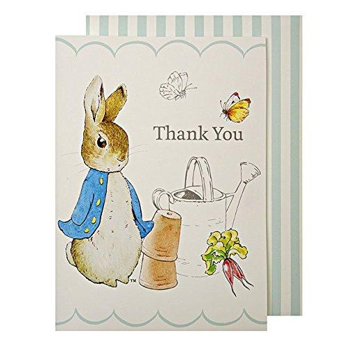 Peter Rabbit Party @ Occasions Direct - Confezione da 8 cartoline di ringraziamento, motivo: Peter Rabbit