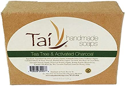 Organic Natural Handmade Soaps - Tea Tree & Activated Charcoal - 4.5 oz Bar