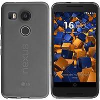 mumbi Funda compatible con LG Nexus 5X, negro claro