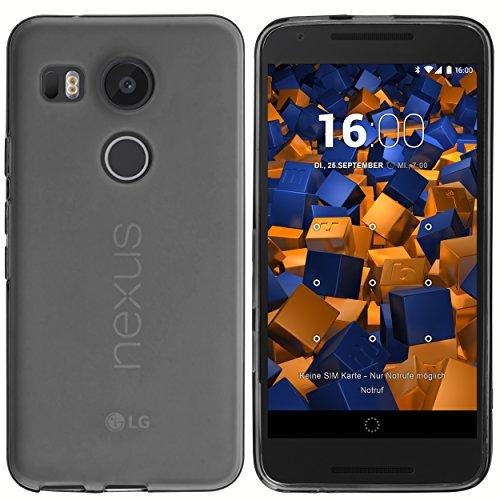 mumbi Hülle kompatibel mit LG Nexus 5X Handy Hülle Handyhülle, transparent schwarz