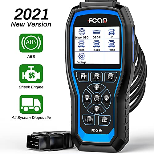 FCAR F506 Heavy Duty Truck Scanner, All System Truck Code Reader for Almost All Trucks,2 in 1 Car...