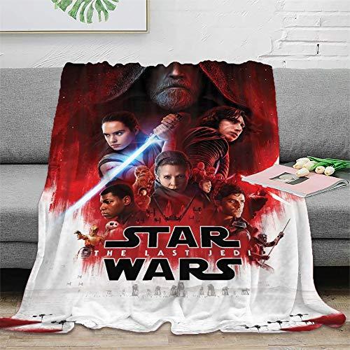 STTYE Manta de lana de Star Wars se puede utilizar como sábana de cama, manta de viaje, colcha de siesta diaria, incluso cojín de sofá. 150 x 200 cm.