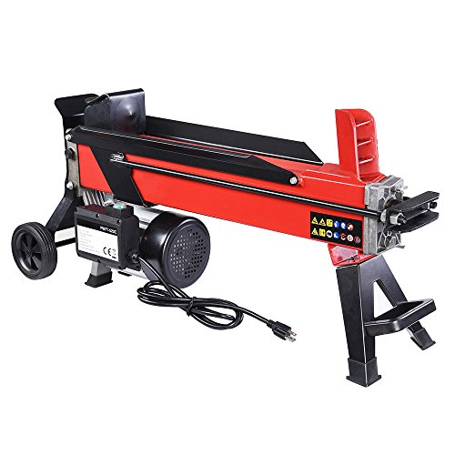 Best Buy! 9TRADING Electrical Hydraulic Log Splitter 7 Ton Powerful Firewood Wood Kindling Cutter