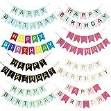 thematys® Guirnalda Feliz Cumpleaños Set en 8 diseños y Colores Diferentes