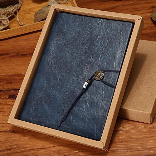 A5 notitieboeken, retro, loose-bladmuziek, notitieboek, creatief dagboek, eenvoudige vergadering, notitieboek, kantoorbenodigdheden blauw