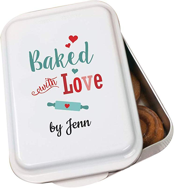Personalized Baked With Love Cake Pan Aluminium