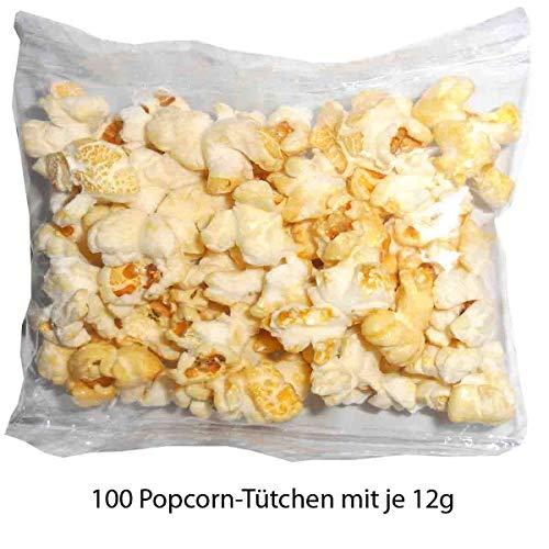 Popcorn Tütchen 100 Tütchen je 12g - Wurfartikel Popcorn 12 g