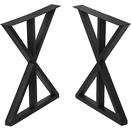 "Metal Table Legs Dining Table Legs 28/"" Height 24/"" Width L-Shaped Desk Legs 2pcs"