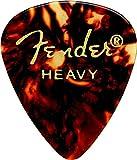 Fender 198-0351-900 351 Shape Classic Picks - Guscio di tartaruga - Pesante - Confezione da 12 conteggi