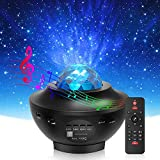 2 in 1 Galaxy Projector with Remote Control& Auto-Off Timer Star Projector with LED Nebula Cloud with Bluetooth Speaker for Kids Adult Bedroom