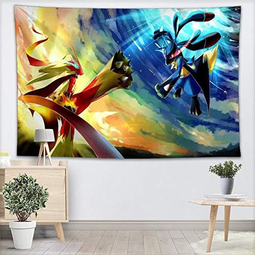 ahjs456 Tapisserie Murale Pokemon Tapisseries Tenture Murale Pièce De Spectacle pour La Décoration Intérieure Tapis Mural Plage Jeter Tapis Couverture Tapis De Yoga 130x150cm 14