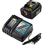 BL1860B Replacement Battery Compatible with Makita 18V 6.0Ah Lithium-Ion Battery BL1815 BL1820 BL1830 BL1840 BL1845 BL1850 BL1850B-2 and DC18RC Charger for Makita 14.4V 18V LXT Battery Lithium-Ion