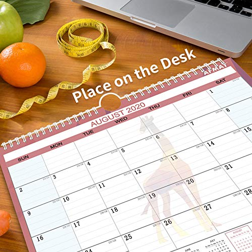 """Desk Calendar 2020 - Small Monthly Desk/Wall Calendar, 14"""" x 11"""", Planner for 2020 Whole Year,180g Thick Paper, Smooth Writing, Large Space for Writing Notes, Ruled Blocks, Corner Protectors, Animal Photo #6"""