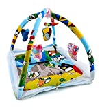 V.R TEXTILE Baby Bedding Set Playmat Gym with Mosquito Net and Hanging Toys