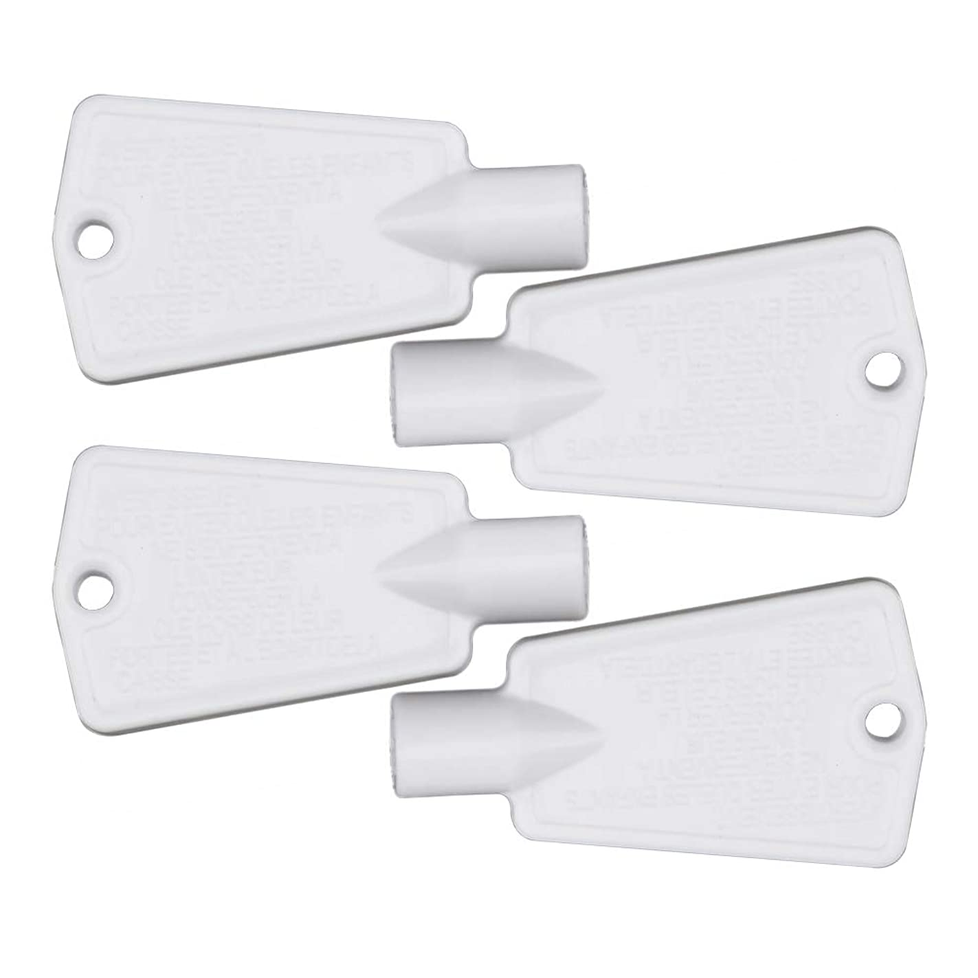 297147700 Freezer Door Key Replacement for Electrolux Frigidaire Kenmore Refrigerator Replaces AP4301346 PS1991481 by AUKO (4 Packs)