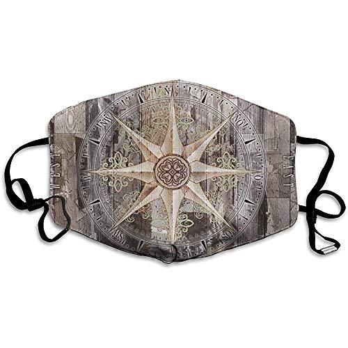 Wasbare Mond Maskers Anti-Dust, Unisex Kompas Mariniers Warm Gezicht Masker Modieuze Cover