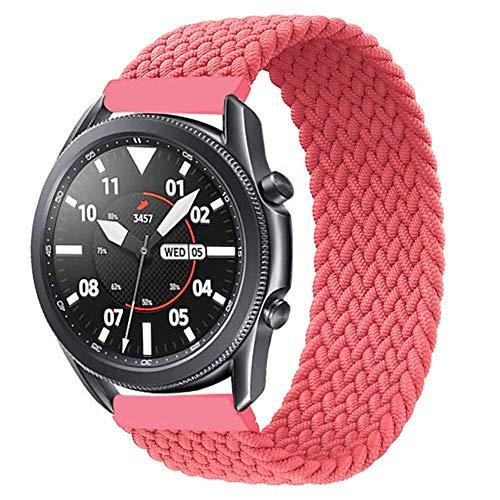 Leishouer Correa de nailon trenzado compatible con Galaxy Watch 3 45 mm/Galaxy Watch 46 mm, correa de ajuste elástico, correa de nailon transpirable de 22 mm