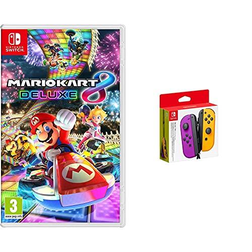 Mario Kart 8 Deluxe + Nintendo Joy-con (Set Izda/Dcha) Morado Neón/Naranja Neón
