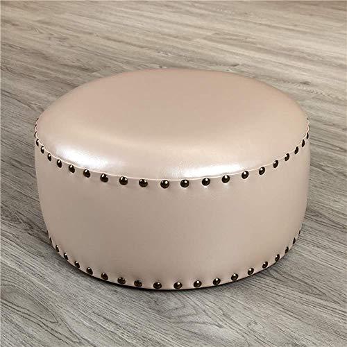 WEIZI Reposapiés de Cuero de Cera de Aceite de imitación otomano puf Banco de Zapatos Taburete Puf Reposapiés Taburete Puff Silla-a 40x20x20cm (16x8x8)