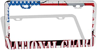 Proud Army National Guard Uncle USA Military License Plate Frame (2 Holes-2Pcs)