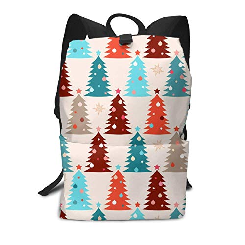 Homebe Christmas Tree Star Colour Mochila,Mochila Unisex, Mochilas y Bolsas School Travel Hiking Small Mini Gym Teen Little Girls Youth Kid Women Men Printed Patterned Themed Bookbags