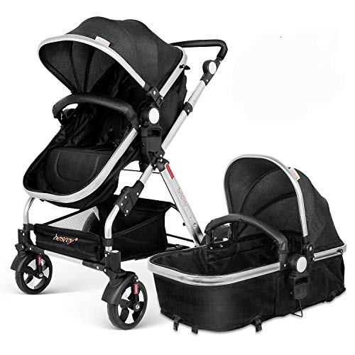 Besrey 2 in1 Luxury Newborn Baby Stroller for Infant Folding Convertible Baby...