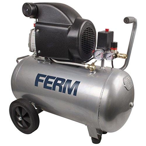 FERM CRM1046 Compressore, 2 PS, 1500 W, 50 Litri