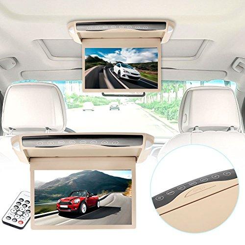 Springdoit Pantalla de visualización del Coche HD de 10 Pulgadas LED, Reproductor de Audio, electrónica del Coche de Pantalla táctil de instalación LCD