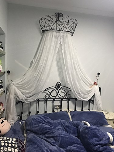 Prinzessin betthimmel,Europäische schmiedeeisen tagesdecke moskito vorhang vorhang dekorative krone netting gardinen-C
