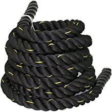 "ZENY Battle Rope 1.5"" Diameter 100% Poly Dacron 30ft Length Workout Exercise Rope Undulation Core Strength Training Equipm..."