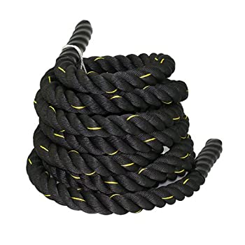 ZENY Exercise Battle Rope 1.5  Diameter 30ft Length Poly Dacron Workout Exercise Training Rope Core Strength Muscles Building Conditioning Rope Home Gym Equipment
