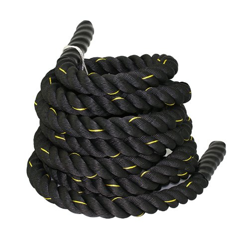 professional ZENY Battle Rope 1.5 inches, 100% diameter Polydacron, 30 feet long, exercise training rope.