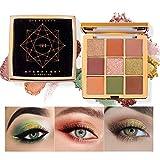OLesley Sombra de ojos estrellada 9 colores sombra Profesional Altamente pigmentado Duradero Paleta...