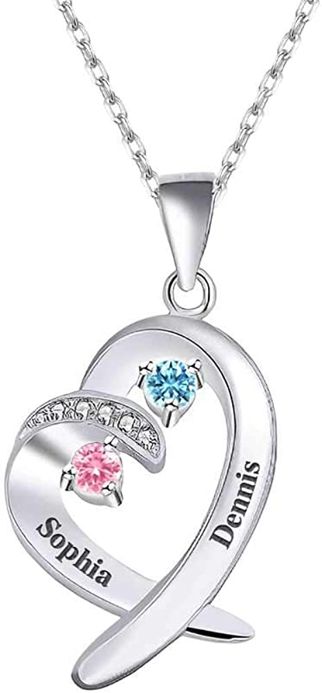 depot VeeVoice Personalized Heart Pendant Necklace Mom depot for Si Sterling