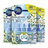 Ambi Pur Ambientador para difusor eléctrico, 9 recargas de 20 ml, elimina olores, seguro de usar en cualquier habitación, duración de hasta 90 días
