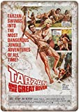 Forry Tarzan and The Great River Movie Metall Poster Retro