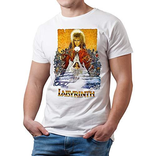 Camiseta Hombre Cine Labyrinth - Dentro del Laberinto, Jim Henson (Blanco, L)