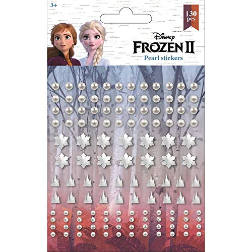 3D Sticker für Kinder & Kalender Perlen,Schneeflocken, Sterne, kompatibel zu Disney Frozen 2 die Eiskönigin 2 Tagebuch Aufkleber | Anna & Elsa | 130 Stück