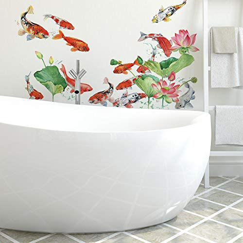 RoomMates Koi Fish Peel And Stick Giant Wall Decals