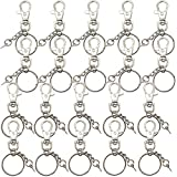 Etetevn Metal Keychain, 20 Pcs Keychain Rings for Crafts, DIY Lanyard, Key, Jewelry, Resin Keychain molds